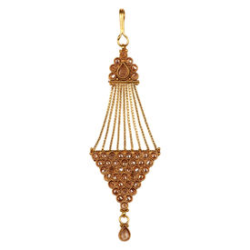 Pink Rose - Bridal Collection Gold Polki Stone Copper Pasha/Jhoomer For Women/Girls, copper, 12, gold