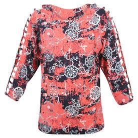 Pink Rose Women Multicolour Top, m, cotton, multicolor