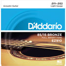 D'ADDARIO EZ910 85/15 AMERICAN BRONZE ACOUSTIC GUITAR STRINGS