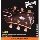 Gibson SAG 200UL Phosphor Bronze 0.011-0.052 Acoustic Guitar Strings
