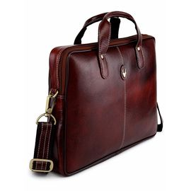 WildHorn WildHorn Brown 100% Genuine Leather 13 inch Laptop Messenger Bag