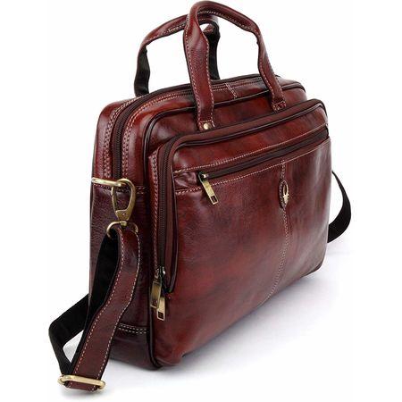 WildHorn Leather 39.37 cms Brown Messenger Bag