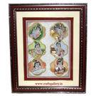 Cg Marble Miniature Krishna Painting