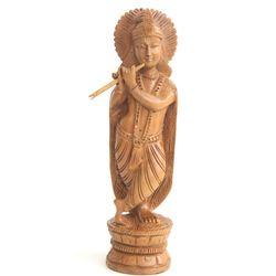 Wooden Krishna, 6 inches