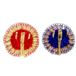 Laddu Gopal Woolan Poshak/ Beautiful Poshak With Lace Border (1 No) - 2 Pcs