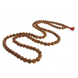 5- Mukhi Rudraksha Mala ( 108+ 1 beads) For Jaap With Gaumukhi