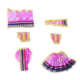 Designer Poshak For Radha Krishna / Heavy Lace Border Poshak For Goddess