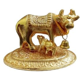 Kamdhenu Statue / Brass Cow And Calf Statue