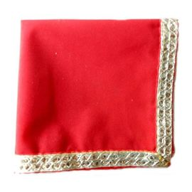 Pooja Choki Red Velvet Aasan / Table Cloth