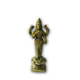 Beautiful Goddess Laxmi Brass Statue / Standing Laxmi Mata Statue