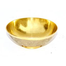 Embossed Work Bowl / Brass Bowl / Pooja Katori