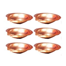 Pure Copper Diya / Copper Pooja Diya Set Of 6