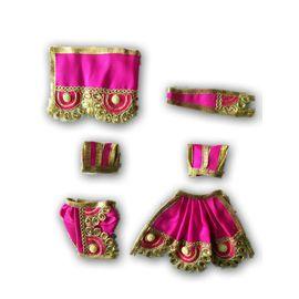 Designer Kundan Work Poshak For Radha Krishan / Beautiful Poshak For Radha Krishan
