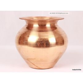 Pure Copper Water Lota / Kalash For Pooja