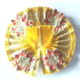 Classic Flower Work Poshak For Bal Gopal / Designer Poshak For Laddu Gopal