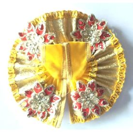 Classic Flower Work Poshak For Bal Gopal / Designer Poshak For Laddu Gopal