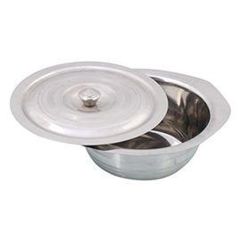 Pawan Steel Donga / Serving Utensil / Donga With Knob Lid
