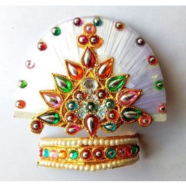 Thread Work Mukut For Thakurji / Laddu Gopal Mukut / Designer Shringar Mukut