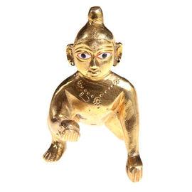 Laddu Gopal Statue/ Brass Laddu Gopal Ji/ Beautiful Thakur Ji
