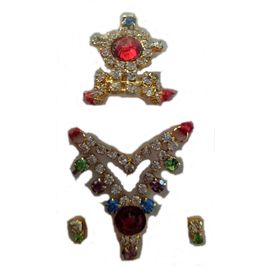 Laddu Gopal Shringar Set Stones Work Mala Mukut Set