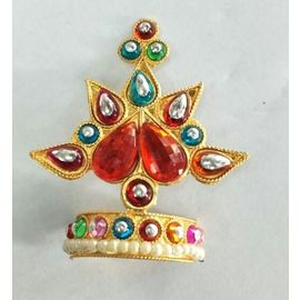 Colourful Booti Mukut Work For Laddu Gopal / Mukut Shringar For Thakurji