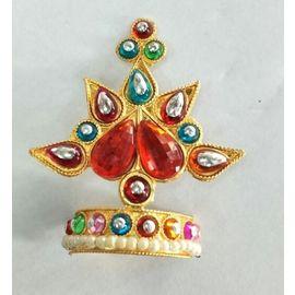 Colourful Booti Mukut Work For Laddu Gopal / Mukut Shringar For Thakurji
