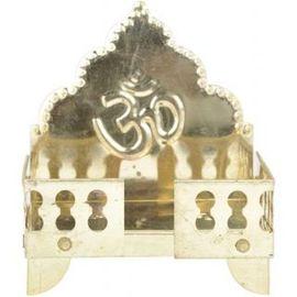 Brass pooja Singhasan / Om Symbol Singhasan / God Asan