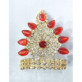 Designer Diamond And Stone Work Mukut For Laddu Gopal / Mukut For Thakurji