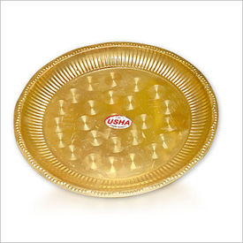 Brass Pooja Plate / Pooja Thali / Designer Thali