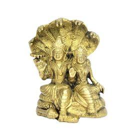Beautiful Vishnu Laxmi Sitting On Sheshnag / Vishnu Laxmi Statue / Brass Goddess Statue