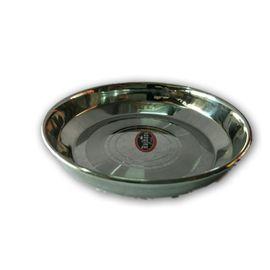 Stainless Steel Plate / Rajhans Steel Halwa Plate - 2 Pcs
