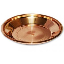 Pure Copper Plate For Pooja / Puja Thali ( 16.50 CM)