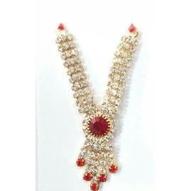 Beautiful Diamond Work Neckpiece For Laddu Gopal / Designer Haar For Bal Gopal