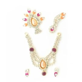 Laddu Gopal Stone Work Shringar Set / Designer Jewellery Set For Thakur Ji