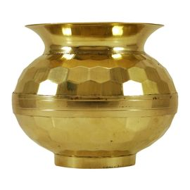 Brass Pooja Lota / Designer Lota / Pure Brass Lota / Diamond Cutting Lota