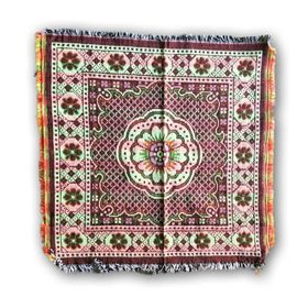 Multicolour Flower Aasan / Prayer Mat / Pooja Aasan- 2 Pcs