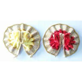 Goldenmoti Lace Border Poshak For Laddu Gopal / Designer Poshak For Bal Gopal - 2 Pcs