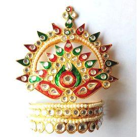 Designer Diamond Work Mukut For Thakurji / Mukut For Laddu Gopal / Mukut Shringar