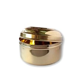Brass Round Pooja Box / Brass Prasad Container / Brass Box