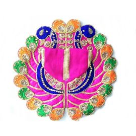 Elegent Embroidery Poshak For Bal Gopal Shringar / Poshak For Laddu Gopal