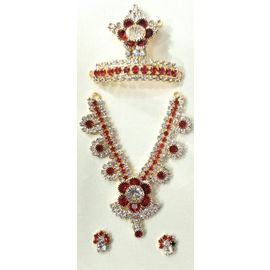 Beautiful Diamond Stone Work Jewellery Set For God / Laddu Gopal Shringar Set