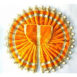 Designer Velvet poshak With Moti Border For Thakurji / Poshak For Bal Gopal