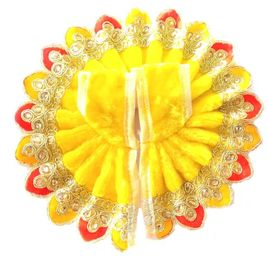Elegent Woolan Poshak For Thakur JI / Valvet Poshak / Multicolour Border Winter Poshak For Laddu Gopal (2 No)