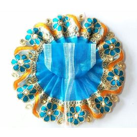 Thread Flower Border Poshak For Bal Gopal / Poshak For Laddu Gopal (2 No)