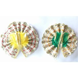 Designer Lace Net Poshak For Laddu Gopal / Poshak For Bal Gopal - 2 Pcs