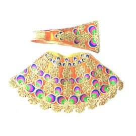Designer Zari Work Poshak For Matarani / Poshak For Radha Ji (4 No)