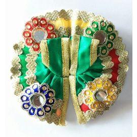 Kanch Work Flower Poshak For Laddu Gopal / Designer Poshak For Bal Gopal