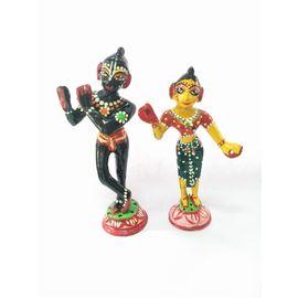 Radha Krishna Brass Statue / Decorative Radha Krishna Statue