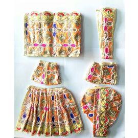 Designer Sitara Work Poshak For Radha Krishna Set / Beautiful Poshak For Radha Krishna