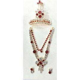 Diamond Stone Work Jewellery Set For God / Laddu Gopal Shringar Set